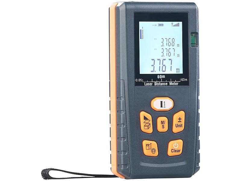 Laser Entfernungsmesser Outdoor : Agt professional laser entfernungsmesser mit lcd bluetooth
