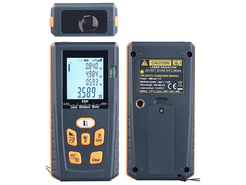 Agt professional laser entfernungsmesser mit lcd & bluetooth