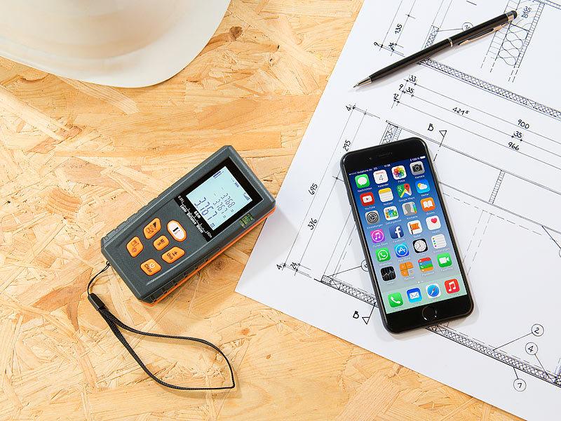 Iphone Als Entfernungsmesser : Agt professional laser entfernungsmesser mit lcd bluetooth