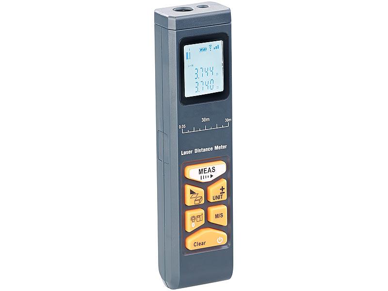 Infrarot Entfernungsmesser : Agt laser entfernungsmesser mit lcd & bluetooth messbereich 5 cm 30 m