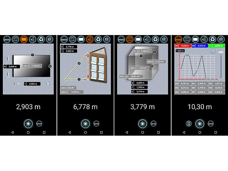 Laser Entfernungsmesser Handy : Agt laser entfernungsmesser mit lcd bluetooth messbereich cm m