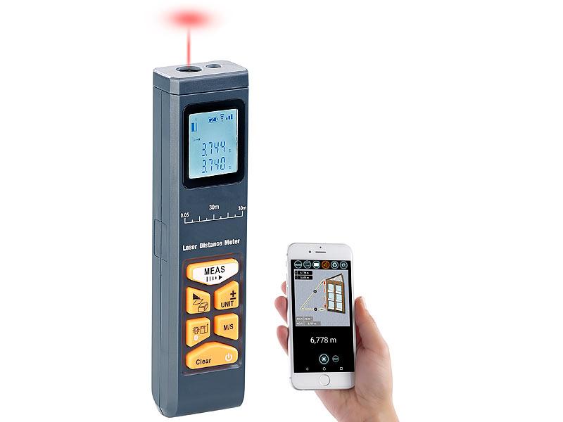 Laser Entfernungsmesser Zubehör : Agt laser entfernungsmesser mit lcd bluetooth messbereich cm m