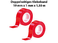 "AGT Doppelseitiges Klebeband ""Power ZIP"", 19 mm x 1,5 m, 2er-Pack"