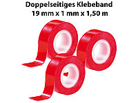 "AGT Doppelseitiges Klebeband ""Power ZIP"", 19 mm x 1,5 m, 3er-Pack"